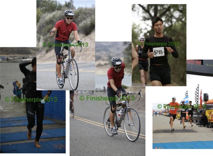최근 철인삼종 올림픽코스에서 찍은 사진들. 표정이 가관이다.