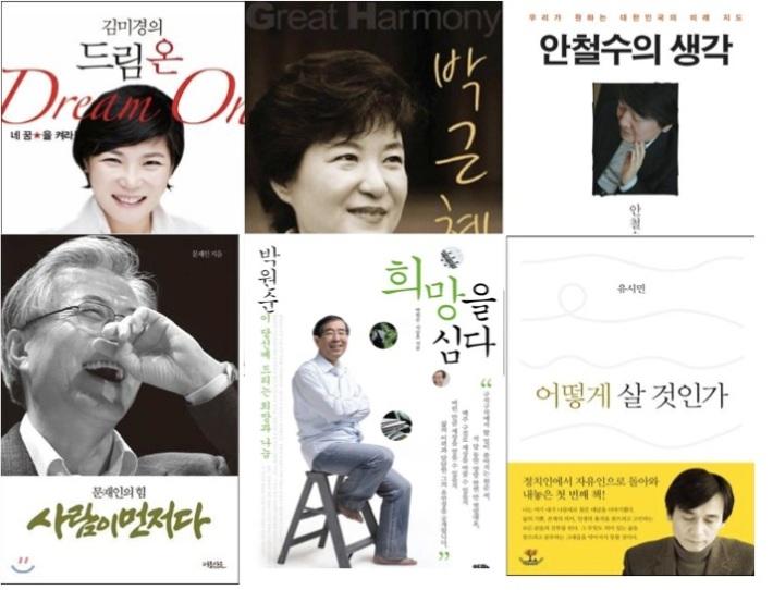 김미경, 박근혜, 안철수, 문재인, 박원순, 유시민