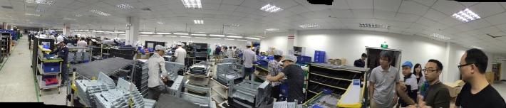 중국 Shenzhen 의 공장모습